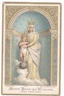 Rare Image Religieuse Rehaussée De Doré, Notre-Dame Des Victoires, « Souvenir Des Tranchées D'Arras », Guerre 1914-1918 - Documents