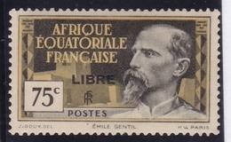 "Afrique Equatoriale Française A.E.F. N° 112 Neuf * ""LIBRE"" - Neufs"
