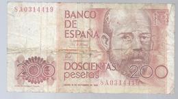 Spanien - 200 Peseten 1980    -  NG-168 - [ 4] 1975-… : Juan Carlos I