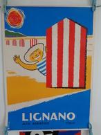 AFFICHE: Lignano ,Alto Adriatico  ,Italia   H 56 L  40,5 - Affiches