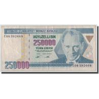 Billet, Turquie, 250,000 Lira, L.1970 (1992), 1970-01-26, KM:207, TB - Turkey