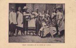 Chef Indigène Et Sa Cour Au Congo - Belgisch-Congo - Varia
