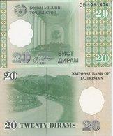 Tajikistan  P-12  20 Diram  1999  UNC - Tadjikistan