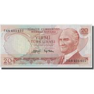 Billet, Turquie, 20 Lira, L.1970 (1974), 1970-01-26, KM:187a, SPL - Turkey