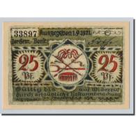 Billet, Allemagne, Volkstedt, 25 Pfennig, Objets, 1921, 1921-09-01, SPL - Other