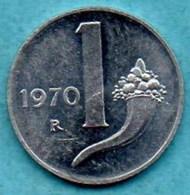(r65)   ITALIE ITALY  1 LIRA 1970  UNC / NEUVE - 1946-… : République
