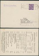 MWSt Kartoffelkäfer Berlin Charlottenburg 2, 6.9.46 Ds-Karte, Philatelistische Werbung Händler-Liste - Zona AAS