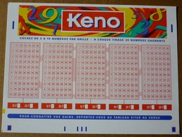FDJ FRANCAISE DES JEUX - GRILLE LOTO KENO 1998 - SCANS RECTO/VERSO - Lottery Tickets