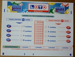 FDJ FRANCAISE DES JEUX - GRILLE LOTO MULTIPLE 1997 - SCANS RECTO/VERSO - Lottery Tickets