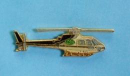 1 PIN'S  //  ** HÉLICOPTÈRE AÉROSPATIALE / AS-350B ÉCUREUIL / AVIATION FRANÇAISE ** . (J.Y. Ségalen Collection) - Airplanes