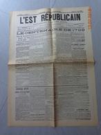 L' EST  REPUBLICAIN   --  1er Numéro  (N° 1)  Du  Dimanche  5 Mai 1889 - 1850 - 1899