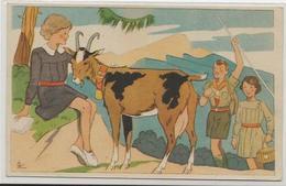 CPA Chèvre Caprin Scout Scoutisme éclaireurs Non Circulé - Dieren