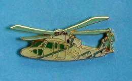 1 PIN'S  //  ** HÉLICOPTÈRE / SIKORSKY S-76 / HÉLI UNION ** . (J.Y. Ségalen Collection) - Airplanes