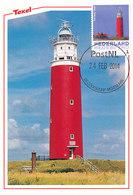 D34595 CARTE MAXIMUM CARD 2014 NETHERLANDS - DE COCKSDORP PHARE VUURTOREN LIGHTHOUSE TEXEL CP ORIGINAL - Texel