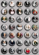 Isabelle Huppert Movie Film Fan ART BADGE BUTTON PIN SET  (1inch/25mm Diameter) 35 DIFF - Films