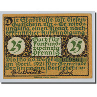 Billet, Allemagne, Voltho, 25 Pfennig, Paysage, 1921, SPL, Mehl:1366.1 - Other