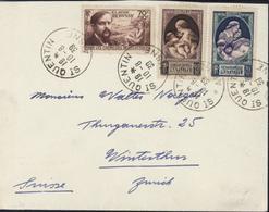 YT 437 440 441 Propagande Natalité Enfants CAD St Saint Quentin Aisne 19  10 8 39 Pour La Suisse - 1921-1960: Modern Period