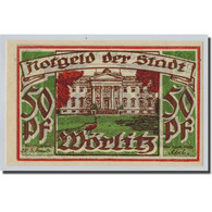 Billet, Allemagne, Wörlitz, 50 Pfennig, Paysage 2, O.D, SPL, Mehl:1450.1 - Other