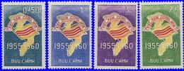 Vietnam Sud 1960. ~ YT 146 à 149** - 5 Ans De La République - Vietnam