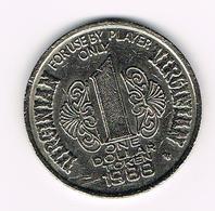 &-  VIRGINIAN  1 DOLLAR TOKEN HOTEL CASINO RENO 1988 - Elongated Coins
