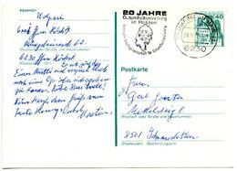 Germany 1978 40pf. Eltz Castle Postal Card Frankfurt To Schwanstetten - [7] Federal Republic