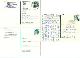 Germany 1977-78 3 Used 40pf. Eltz Castle Postal Cards - [7] Federal Republic