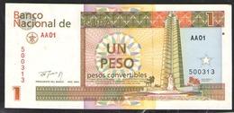 КУБА  1 ПЕСО  1994 - Cuba