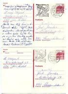 Germany 1983 2 60pf. Rheydt Castle Postal Cards Frankfurt To Schwanstetten - [7] Federal Republic