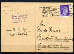 "German Empires 1943 Bedarfspostkarte Mit Mi.785 U.Propaganda MWST""Berlin-32 Millionen BRT Sind Weg !Schiff""1 AK Used - Alemania"