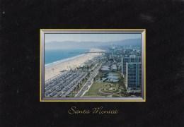 Aerial View Of Beach & Pier, Santa Monica, California, US Unused - United States