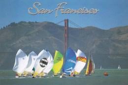 Sailboat Race On San Francisco Bay With Golden Gate Bridge, California, US Unused - San Francisco