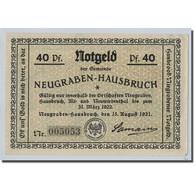 Billet, Allemagne, Neugraben Hausbruch, 40 Pfennig, Personnage, 1921 - Other