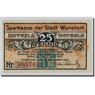 Billet, Allemagne, Wunstorf, 25 Pfennig, Eglise, 1920, 1920-11-15, SPL - Other