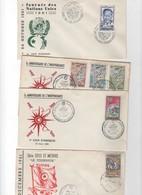 Tunisie -1er Jour- LOT DE 4 LETTRES DE 1961 - Tunisie (1956-...)