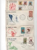 Tunisie -1er Jour- LOT DE 4 LETTRES DE 19612 - Tunisie (1956-...)