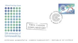 CYPRUS - FDC 2001 COMMONWEALTH DAY Mi #975 - Zypern (Republik)