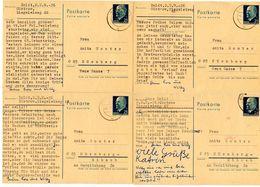 Germany, East 1972 4 Postal Cards Güstrow To Nürnberg, West Germany - Postales - Usados