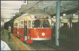 Boston MTA PCC Car Number 3295, 1997 - Mary Jayne's Railroad Specialties Postcard - Subway