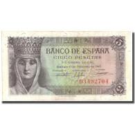 Billet, Espagne, 5 Pesetas, 1943, 1943-02-13, KM:127a, SPL+ - 5 Pesetas