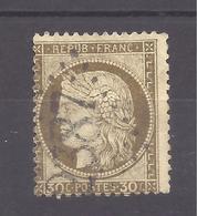MONACO -- Préphilatélie -- Cérès III ème. République 30 C. Brun ( Septembre 1872 - Fin 1876 ) - Monaco