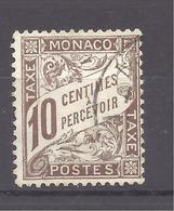 MONACO -- Timbre-Taxe -- 10 C. Brun Oblitéré - Monaco