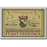 Billet, Allemagne, Vegesack, 25 Pfennig, Bateau, 1921, 1921-12-01, SPL - Other