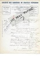 28- Eure-et-loir - EPERNON - Facture Sté DES CARRIERES DU CHATEAU D'EPERNON - 1934 - REF 96A - France
