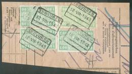 Fragment De Colis Avec 4x1Fr. Obl. Ch. Fer De TERVUREN 12-VII-1943- 12941 - Railway