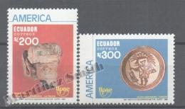 Equateur - Ecuador 1989 Yvert 1195-96, América UPAEP, Pre-Columbian Art - MNH - Ecuador
