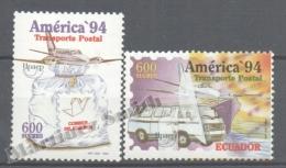 Equateur - Ecuador 1994 Yvert 1316-17, América UPAEP, Postal Transport Vehicles - MNH - Ecuador