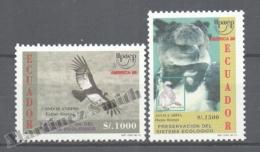 Equateur - Ecuador 1995 Yvert 1344a-44B, América UPAEP, Nature Protection & Preservation - MNH - Ecuador