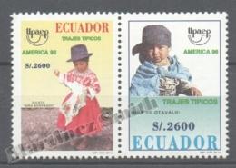 Equateur - Ecuador 1996 Yvert 1373-74, América UPAEP, Traditional Costumes - MNH - Equateur