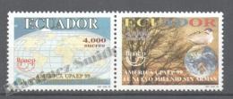 Equateur - Ecuador 1999 Yvert 1473-74, América UPAEP, New Millenium With No Weapons - MNH - Ecuador