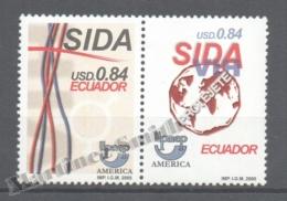 Equateur - Ecuador 2000 Yvert 1532-33, América UPAEP, Fight Against AIDS - MNH - Ecuador
